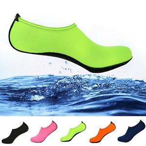 Men-Women-Skin-Water-Shoes-Aqua-Socks-Yoga-Exercise-Pool-Beach-Swim-Slip-On-Surf