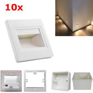 10XWarm-White-2-5W-LED-Wall-Corner-Light-Plinth-Recessed-Step-Stair-Lamp-Box