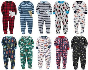 e7d952986 Image is loading Carters-Boys-Pajamas-one-piece-footed-NWT