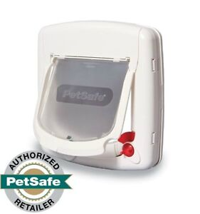 PetSafe 4-Way Locking Cat Door w/Tunnel White Interior/Exter