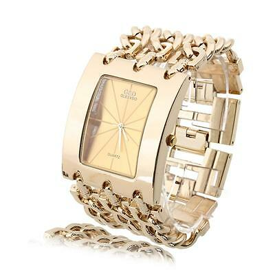 Luxury Bling Crystal Rose Gold Lady Women Girl Bracelet Quartz Wrist Watch Gift