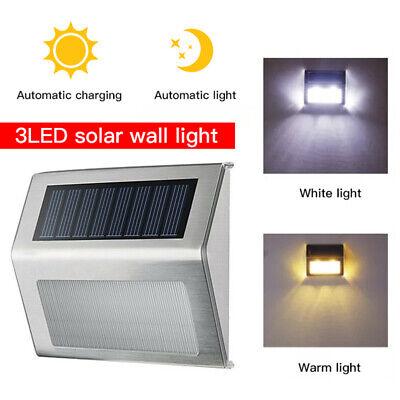 2 4 6 Pack Led Solar Wall Lights Powered Fence Pathway Garden Deck Lighting Uk Ebay