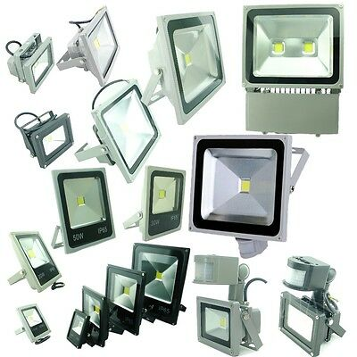 110V 12V 20W 50W 100W 140W LED Flood Light PIR Motion Sensor SMD Floodlight US