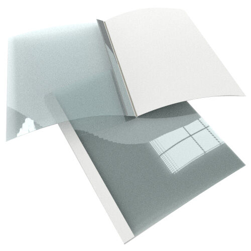 New 1 2  Satin White Thermal Binding Utility Covers - 25pk - Free Shipping