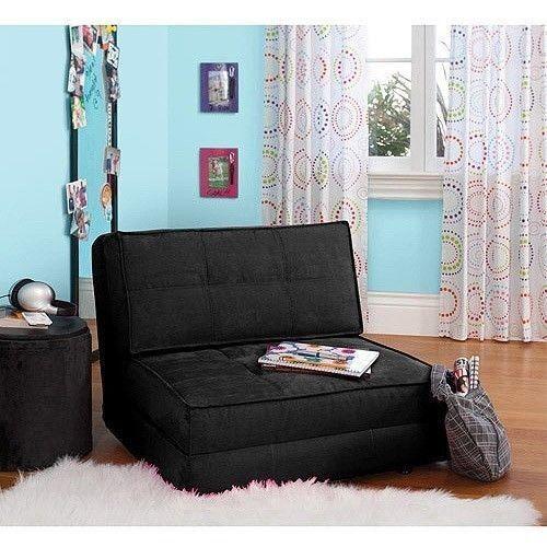 Modern Futon Sofa Bed Kids Flip Chair Sleeper Lounge Bedroom Dorm ...
