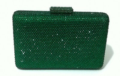 IN Stock Gorgeous~ Green ~Square Shaped Bridal/Prom/Evening Crystal Clutch Bag