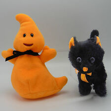 Spooky Ty pair 2011 Haunt and 2008 Scaredy cat plush Halloween decor