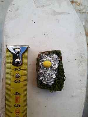 1 cesto pesci alici terracotta presepe miniature nativity scene pastori non