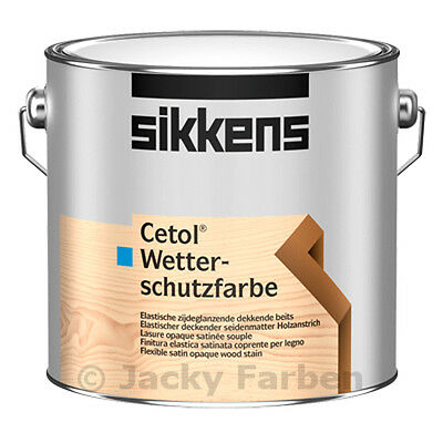 2,5 ltr Sikkens Cetol Wetterschutzfarbe weiß Wetterschutz Farbe