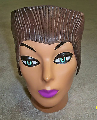 BROWN CREW CUT SIDEBURNS RUBBER LATEX WIG COSTUME WIG NEW DU1356