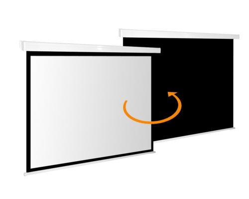 1:1 Rolloleinwand Slender Line 180 x 180 Beamer Leinwand FULL-HD 4K 3D tauglich