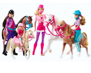shop a few days away various design Details about NEW Barbie & Her Sisters in a Pony Tale Horse Adventure  Skipper Chelsea Playset