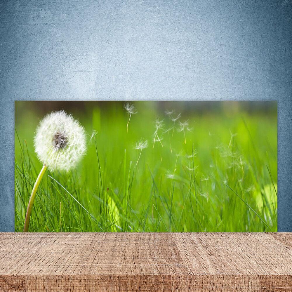 Vidrio Templado Cocina salpicaduras 100x50 Pusteazulme hierba Floral