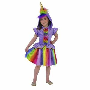 image is loading child toddler cute rainbow unicorn halloween hooded costume