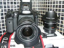 Canon EOS 7D 18.0 MP Digital SLR Camera - WITH THREE LENSES