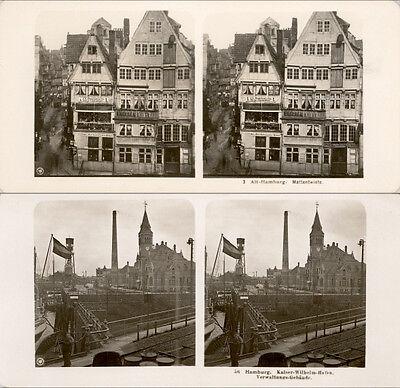 20 Stereoviews Hamburg In Germany - 1906 Lot 1 Verbraucher Zuerst
