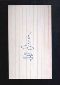 SIGNED  INDEX CARD TED TURNER AUTHENTIC AUTOGRAPH SIGNATURE AZ5237
