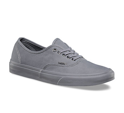 reputable site best prices best cheap Vans Authentic Primary Mono Gray Grey Canvas Skate Shoes Mens 5 / Womens  6.5 | eBay