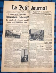 La-Une-Du-Journal-Le-Petit-Journal-30-Decembre-1908-La-Catastrophe-De-Messine