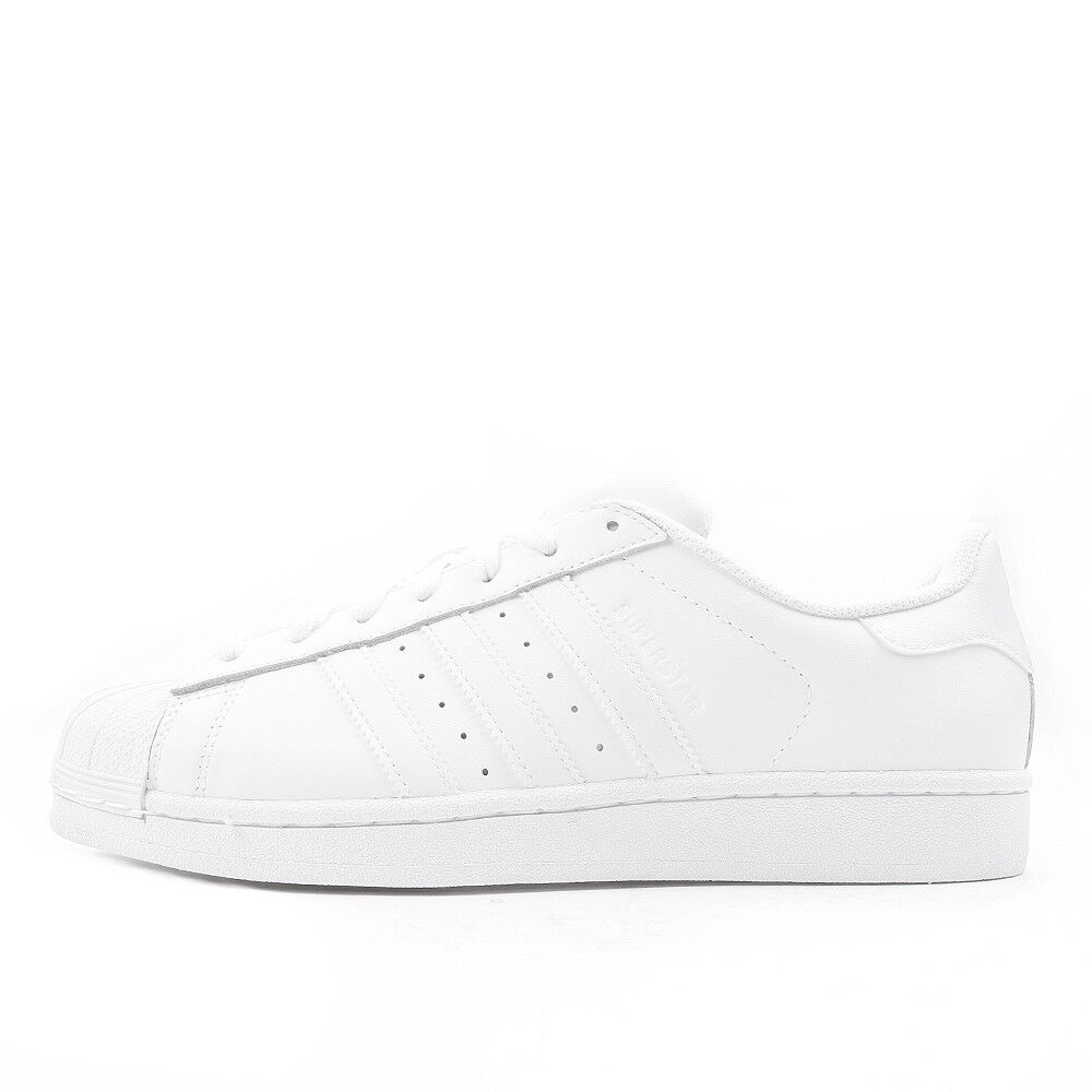 Zapatos promocionales para hombres y mujeres adidas Superstar Foundation Triple White Schuhe Sneaker Weiß