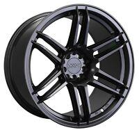 XXR 558 18X8.75 Rims 5x100/114.3mm +19 Black Wheels Fits 350z G35 240sx Rx8 Rx7
