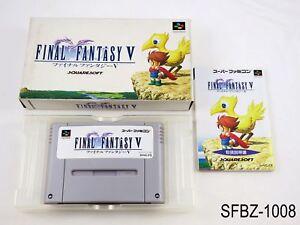 Complete-Final-Fantasy-5-V-Super-Famicom-Japanese-Import-SFC-Japan-US-Seller-B