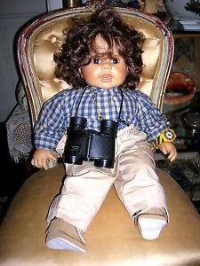 Rare poupée d'artiste Brigitte Leman 1987 Max Zapf Ca.   57cm