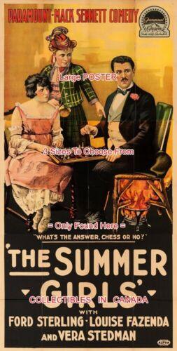 SUMMER GIRLS 1918 Game Of Chess L 6 Ft 7 Ft FAZENDA = POSTER 3 Sizes 4 Ft