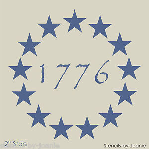 Americana-STENCIL-2-034-Stars-Patriotic-Circle-1776-Primitive-Betsy-Ross-Flag-Signs