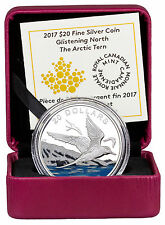 2017 Canada Glistening North Arctic Tern 1oz Silver Colorized Proof $20 SKU45907