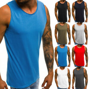 Men/'s Muscle Sleeveless Tank Top Gym Tee Shirt Bodybuilding Sport Fitness Vest