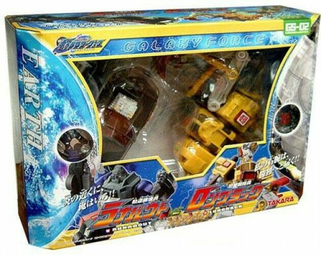 Transformers Japanese Galaxy Force correreabout vs. lungorack azione cifra Set GS02