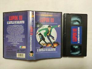 VHS LUPIN III IL CASTELLO DI CAGLIOSTRO CARTONI ANIMATI VIDEOCASSETTA