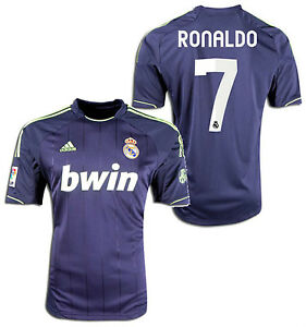 hot sale online 67d8f 3fd0e Details about ADIDAS REAL MADRID CRISTIANO RONALDO AWAY JERSEY 2012/13.