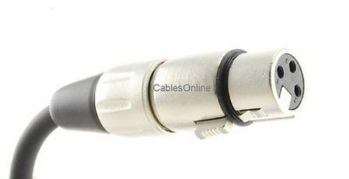"""3ft 1//4/"""" Mono Male Shielded OFC Microphone Cable Kirlin XLR 3-Pin Female"""