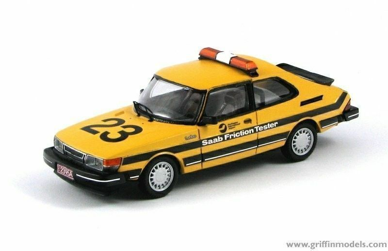 SAAB 900 FRICTION TESTER BURLINGTON AIRPORT 1986 RESIN KIT 1 43 GRIFFIN MODELS