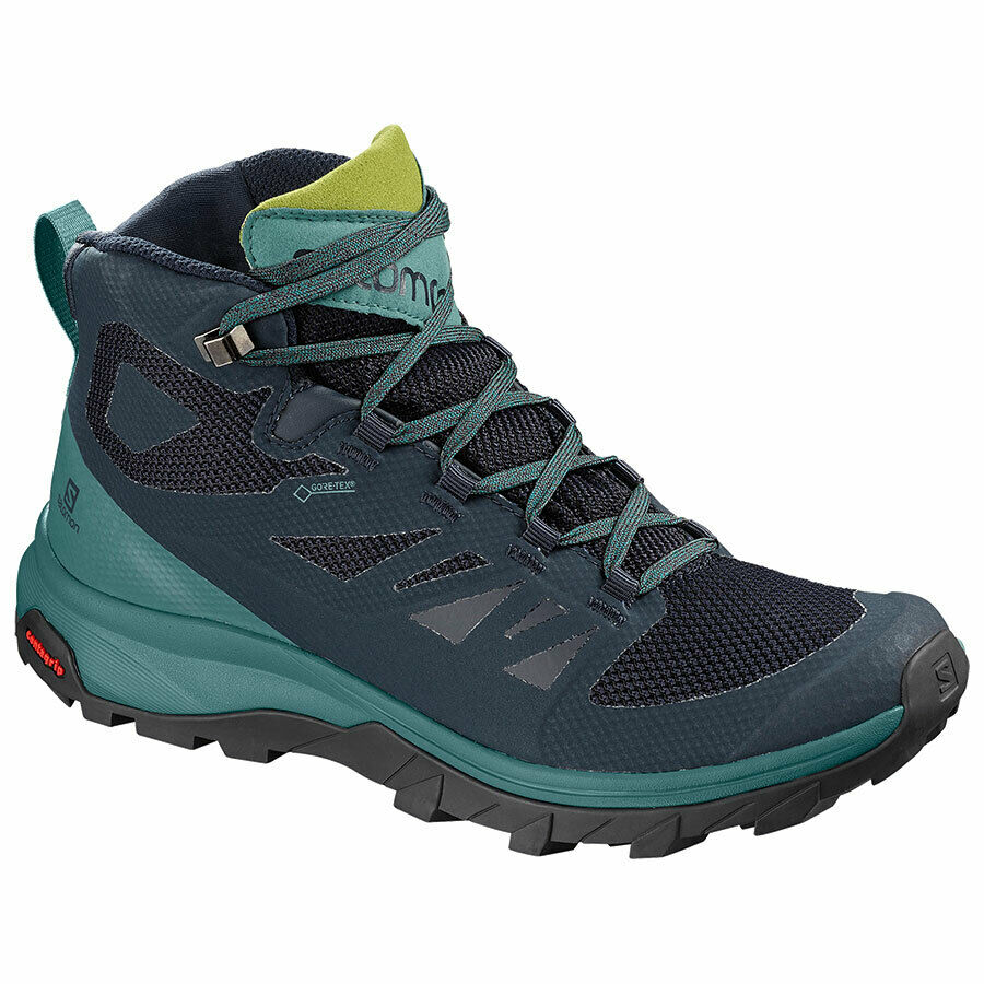 Salomon Donna Scarponcini Outline Mid GTX l404846 in blu Tg. uk 7,5