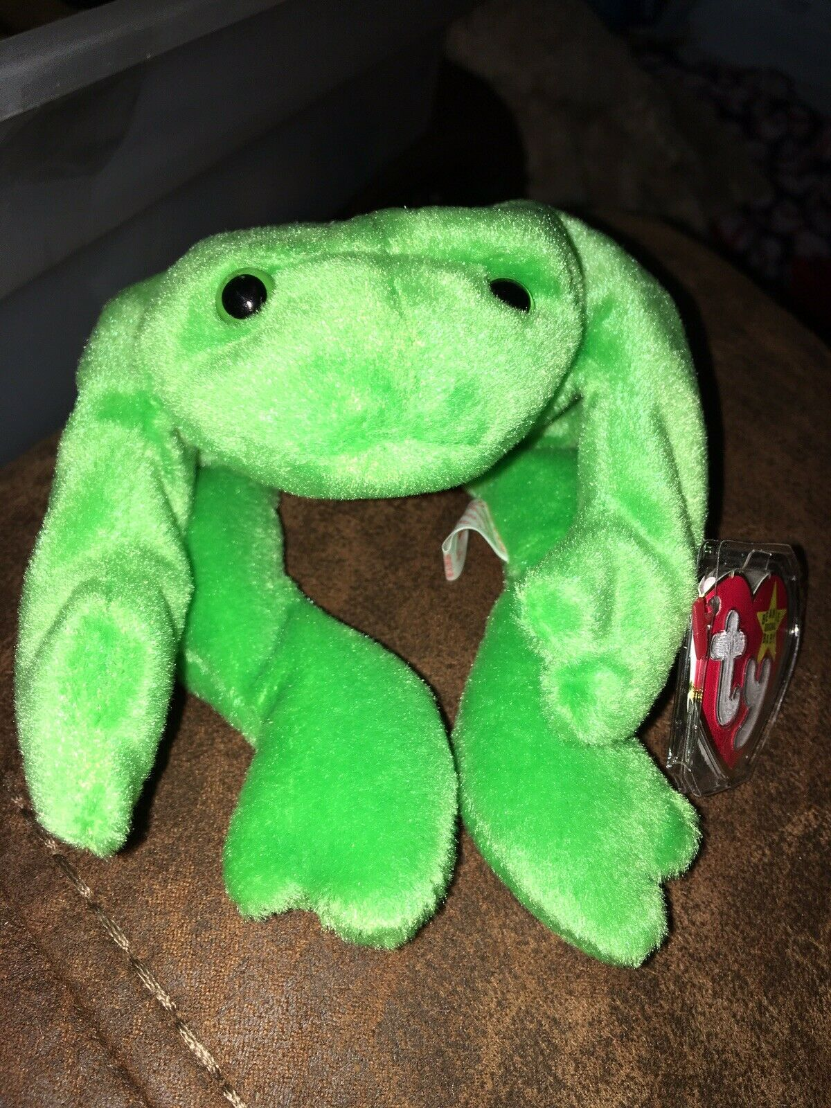 Ty Beanie Baby - - - Legs the Frog Retired 1993 PVC Pellets b323dd