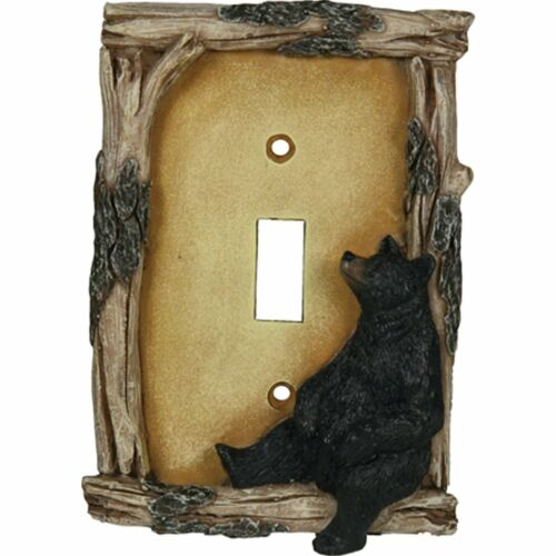 Rivers Edge Products 617 Bear Single Switch Electrical Cover Plage
