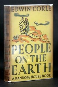 Edwin-Corle-Signed-First-Edition-1937-People-on-the-Earth-Navajo-Novel-HC-w-DJ