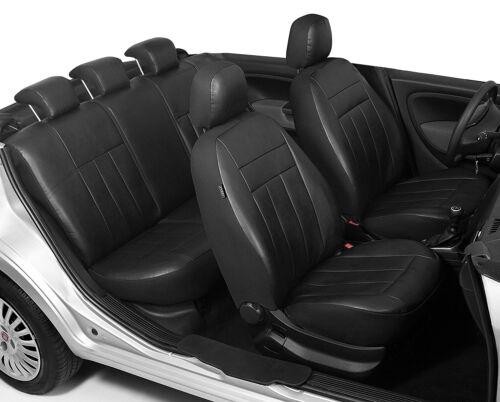2001-2005 personalizzati.. VW POLO IV Ecopelle Coprisedili In Nero 9n, 9n3