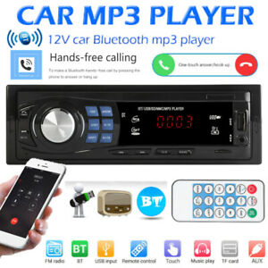 1-DIN-Autoradio-radio-de-Coche-MP3-Bluetooth-Manos-Libres-Car-USB-SD-AUX-In-Dash