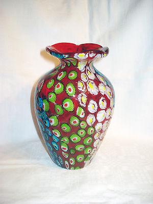 Murano Glas  Millefiori - Vase , 60er