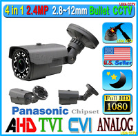 4in1 1080p Hd Cctv 2.4mp Camera Support Cvi Ahd Tvi Analog Cvbs Outside Bullet