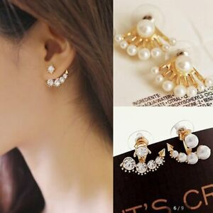 New-Fashion-Women-Lady-Elegant-1Pair-Crystal-Pearl-Rhinestone-Ear-Stud-Earrings
