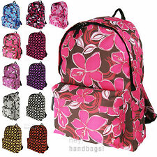 a1289c20e5f3 Backpack Print Rucksack Bag Women Ladies Girls Gym Travel School Work  College A4