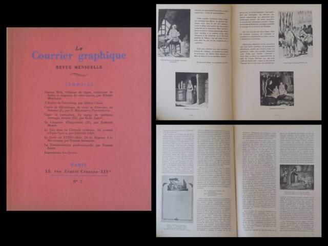 LE COURRIER GRAPHIQUE n°7 1938 GASTON NICK, GUTENBERG, GAZ, BOHEME, TYPOGRAPHIE