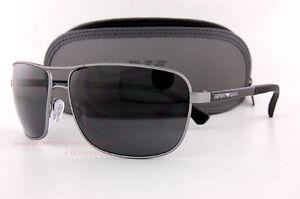 2e62ced2b04 Brand New EMPORIO ARMANI Sunglasses 2033 3130 87 GUNMETAL BLACK GRAY ...