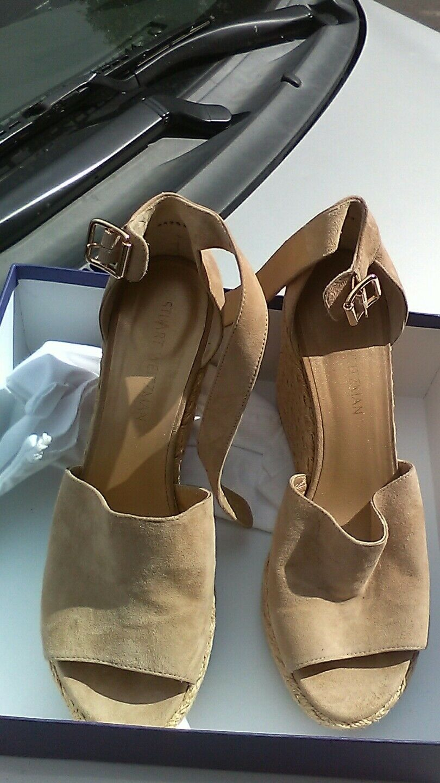 Stuart Weitzman sandals Soho Jute mojave suede platforrm 11 M NWB  455