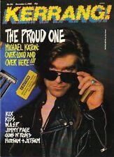 Michael Katon on Kerrang Cover 1988    Kiss     W.A.S.P
